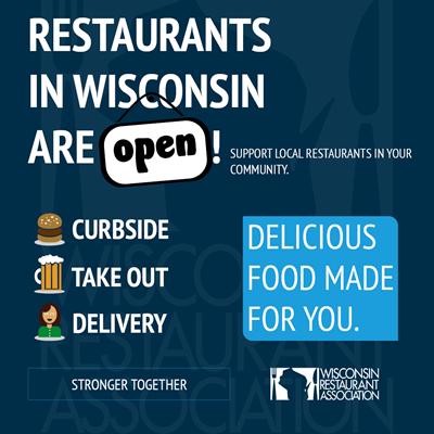 Wisconsin Restaurants are Open Flyer