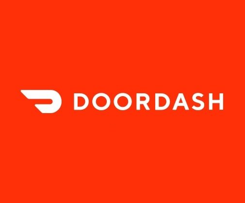 Door Dash Logo in Red Square